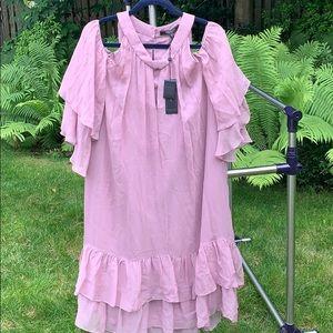 BCBG Maxazria dark lavender dress